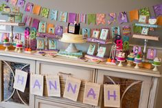 Book themed birthday party with bedtime stories, personalized pillow cases, super cute!