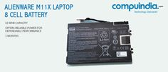 #Dell 8 cell battery for Alienware M11x #laptop lets you work seamlessly while on the move!! www.compuindia.com/dell-8-cell-battery-alienware-m11x.html