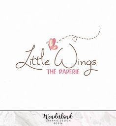 Pre-made Logo, Butterfly Logo, Watercolour Logo, Pink Logo, Small Business Logo, Logo Design, Feminine Logo, Pretty Logo, Whimsy Logo