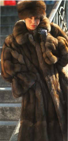 gorgeous sable coat & hat from the 80's