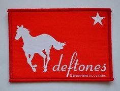Deftones White Pony Patch  http://www.ebay.co.uk/itm/Deftones-White-Pony-Patch-heavy-metal-rock-leather-denim-jacket-elite-change-/281222791657?pt=UK_Women_s_Vintage_Clothing&hash=item417a2f41e9