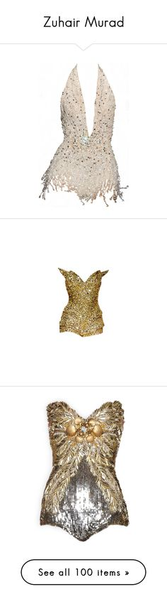 """Zuhair Murad"" by nataliemcmahan ❤ liked on Polyvore featuring intimates, shapewear, dresses, tops, bodysuits, corset, bodysuit, zuhair murad, shirts ve playsuits"