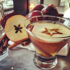 The Chester Cider - Fireball Whiskey, Hard Cider, Apple Slice, Cinnamon