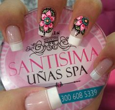 Uñas Espectaculares Crazy Nails, Love Nails, Pretty Nails, My Nails, Fabulous Nails, Perfect Nails, Mandala Nails, Nails Only, Nail Polish Art
