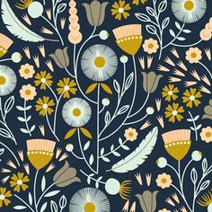 print & pattern: Search results for elizabeth olwen Graphic Patterns, Textile Patterns, Textile Design, Flower Patterns, Print Patterns, Flower Pattern Design, Illustration Blume, Pattern Illustration, Pattern Drawing