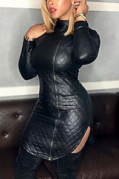 Dresses – Page 5 – shyfull Leather Mini Dress, Leather Dresses, Leder Outfits, Looks Plus Size, Handmade Dresses, Wholesale Clothing, Shoes Wholesale, Ladies Dress Design, Leather Fashion