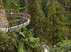 Vancouver Attractions - Cliffwalk| Capilano Suspension Bridge | Capilano Suspension Bridge Park