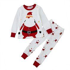 Dream/_mimi Girls O-Neck Christmas Snowman Print Top+Snowflake Print Pants+Scarf Set