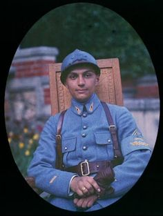 French Army Soldier. 1918 Autochrome. http://ift.tt/2jDUjs7