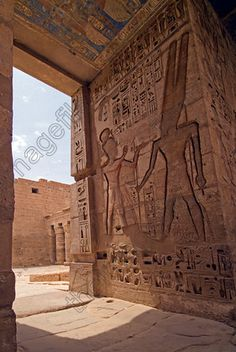 Mortuary Temple of Ramses III, an important New Kingdom period structure in Medinet Habu on the W Bank of Luxor