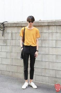 I'd rather bend than break men mens fashion korean fashion men แ ล ะ fa Korean Fashion Winter, Korean Fashion Men, Korean Street Fashion, Korean Men Style, Daily Fashion, Boy Fashion, Mens Fashion, Fashion Outfits, Look Man