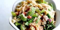 Tuna Macaroni Salad on Simply Recipes. I too have a tuna macaroni salad recipe very similar to this and it is wonderful in the spring and summer. Tuna Recipes, Seafood Recipes, Pasta Recipes, Salad Recipes, Cooking Recipes, Healthy Recipes, Casserole Recipes, Yummy Recipes, Tuna Macaroni Salad