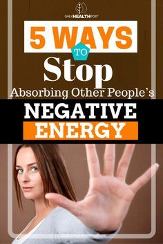 Nothing can bring you down as much as being around negative people.� So how do you prevent people_s negative energy from affecting you?