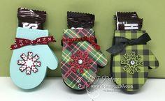Smitten Mittens Treat holder! SOOOO adorable! Video on my website! #stampinBJ.com