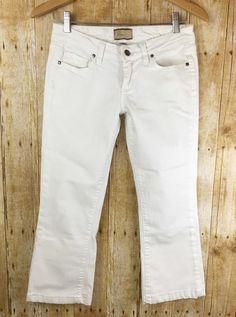 "Paige Denim Canyon Boot Cut Low Rise White Crops Capri Jeans Size 26 Inseam 23"" | eBay"