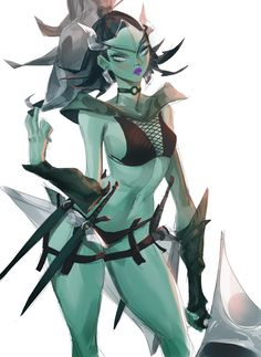 ArtStation - Phantom assassin fanart, Focus on eyes Defense Of The Ancients, Dota 2, A Cartoon, Monster Girl, Assassin, Rogues, Beautiful Words, Character Design, Character Ideas
