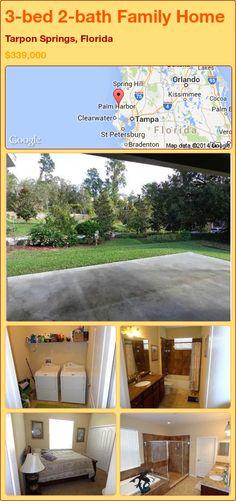 3-bed 2-bath Family Home in Tarpon Springs, Florida ►$339,000 #PropertyForSale #RealEstate #Florida http://florida-magic.com/properties/82765-family-home-for-sale-in-tarpon-springs-florida-with-3-bedroom-2-bathroom