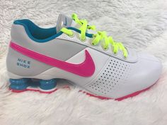 buy popular 79be0 a58ed NEW Youth Nike Shox Deliver Print QS Shoes White Pink Blue Size 6Y  616542-164