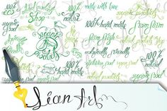Set of lettering design. by Lian-art on @creativemarket