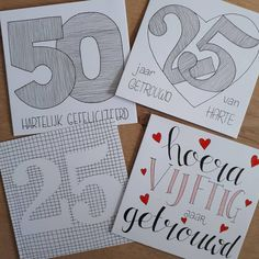 50th Birthday, Birthday Cards, Happy Birthday, Doodle Patterns, Diy Cards, Doodles, Presents, Bullet Journal, Letters