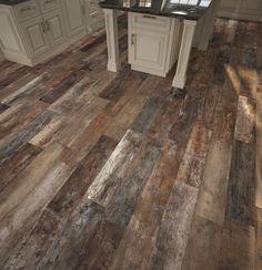 Roanoke Multi Wood Plank Porcelain Tile - 8in. x 32in. - 100344217 | Floor and Decor