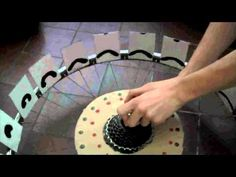 This is a project with a bicycle wheel, zoetrope and animation that is just very very cool.  By a UK artist. Be sure to watch his Africa is Moving video for the UN AIDS project!