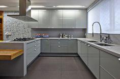 cozinha cinza moderna