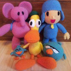 CROCHET - POCOYO - Pocoyo & friends 5 crochet patterns bundle!