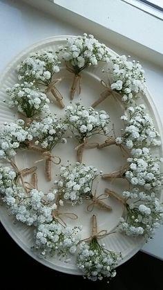 Maison la Fleur,  corsages van gipskruid.