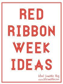 School Counselor Blog: Red Ribbon Week Ideas