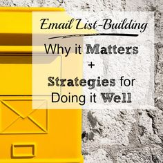 Listen to the podcast to discover why you should build your email list no matter what niche you're in. Beginner steps for growing an email list.