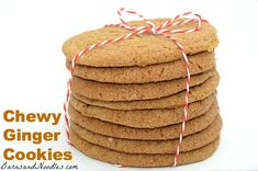 Chewy Ginger Cookies #christmascookies