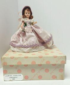 Nancy Ann Storybook Dolls Jewel Serie Amethyst 305 Wrist Tag Stand Brochure Rare #NancyAnn #Dolls