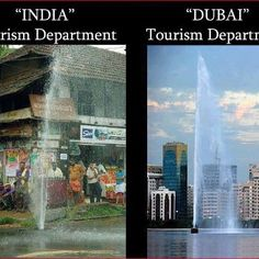 Tourism:  India Versus Dubai  #lol #pic