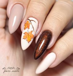 30 Trendy Manicure Ideas In Fall Nail Colors 2019 Inspired - The most beautiful nail designs Elegant Nail Designs, Fall Nail Art Designs, Elegant Nails, Acrylic Nail Designs, Stylish Nails, Nails Design Autumn, Trendy Nails 2019, Neon Nails, Matte Nails