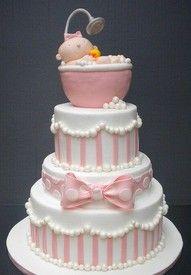 Fancy baby shower cake