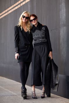 Zanna Roberts Rassi and Taylor Tomasi-Hill use varying proportions to keep black interesting. - HarpersBAZAAR.com