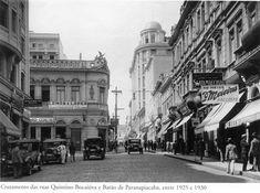 Entre 1925 e 1930 - Cruzamento das ruas Quintino Bocaiúva e Barão de Paranapiacaba. Foto de autoria desconhecida. Acervo do Instituto Moreira Salles.