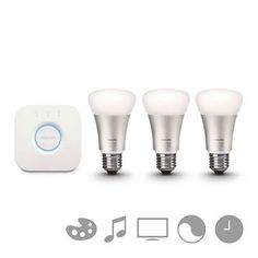 Kit initiere Philips Hue, 3 becuri LED 9W E27