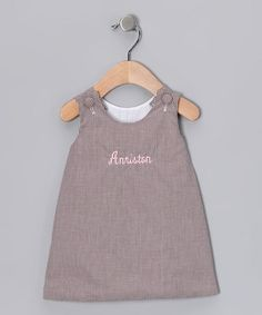 Take a look at this Chocolate & Pink Personalized Jumper - Infant, Toddler & Girls by Lollypop Kids Clothing on #zulily today!