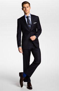 Hart Schaffner Marx Suit & Ermenegildo Zegna Dress Shirt | Nordstrom