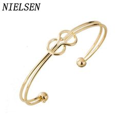 NIELSEN Hot Bow Tie Double Knot Anchor  Bangles Charms Womens  Wrap Simple Generous Banglee Jewelry Manchette Bangle Femme #Affiliate