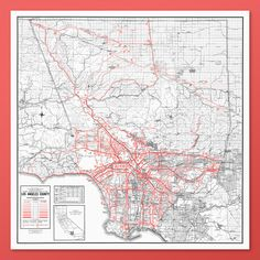 Los Angeles California Map Fine Art Print by DesignOutfitters