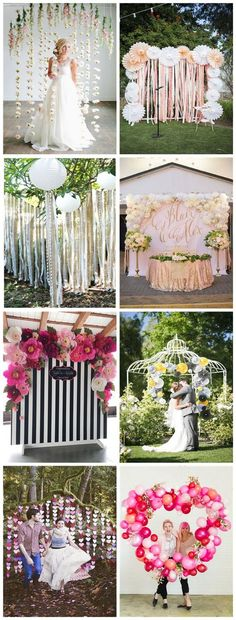 Pretty Photo Booth Backdrop Ideas. http://www.listingmore.com/?p=14