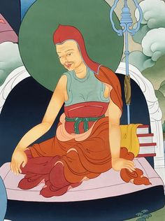 Shakyaprabha (Tib. ཤཱཀྱ་འོད་, Shakya Ö) (b. 8th centunry) — one of the 'Two Supreme Ones'—great commentators on the Buddha's teachings—he was a disciple of Shantarakshita, and was a crucial link in the Vinaya tradition of which the lineage is still extant in Tibet.  #ColoringForMeditation #TibetanArt #TibetanColoring #Thangka #BuddhistArt #BuddhistColoring