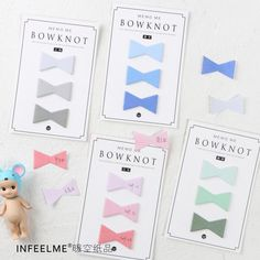 Aliexpress.com : Buy 4 pcs/Lot Pink Bow Gradient Color Index sticky notes memo pads Post it label from Reliable notes memo pad suppliers on Shop3085143 Store