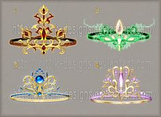 Crowns and diadems (set 1) by Rittik-Designs on DeviantArt