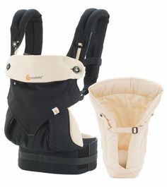 Ergobaby's revolutionary Four Position 360 Carrier offers parents the convenience of four carry positions, including an ergonomic front-outward facing position, while maintaining the highest standards in ergonomic design to ensure safety and maximum comfort. Coupled with the Infant Insert, the Four Position 360 Bundle of Joy is the perfect gift for new parents, allowing them to carry baby from early on.