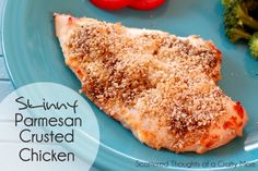 Scattered Thoughts of a Crafty Mom: Skinny Parmesan Crusted Chicken