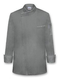 """MARLON"" Chef Coat-Charcoal"